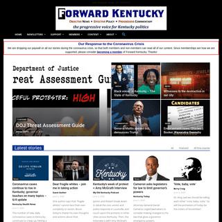 Forward Kentucky - The progressive voice for Kentucky politics