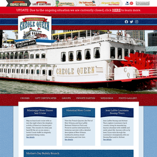 Creole Queen - New Orleans Paddlewheeler Mississippi River Cruises