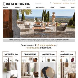 Ventes privées maison, déco, mobilier, luminaire - The Cool Republic