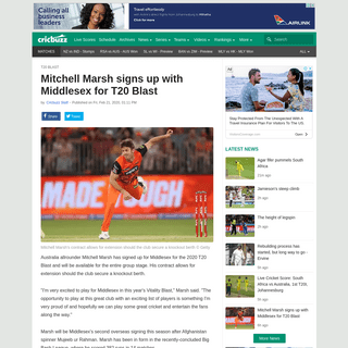 ArchiveBay.com - www.cricbuzz.com/cricket-news/112365/mitchell-marsh-signs-up-with-middlesex-for-t20-blast - Mitchell Marsh signs up with Middlesex for T20 Blast - Cricbuzz.com