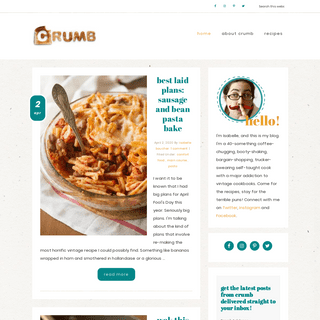 Crumb- A Food Blog - vintage recipes for modern living