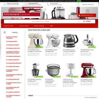KitchenAid konyhai gépek és tartozékok kedvezménnyel