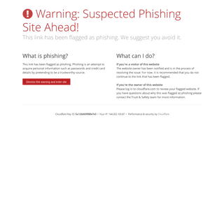 Suspected phishing site - Cloudflare