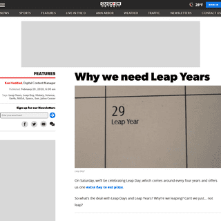 Why we need Leap Years