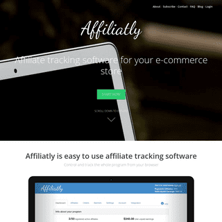 Affiliate tracking software for your store - Affiliatly
