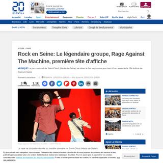 Rock en Seine- Le légendaire groupe, Rage Against The Machine, première tête d'affiche