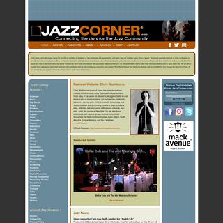 JazzCorner.com - Jazz websites, jazz videos, jazz podcasts, jazz news, jazz jukebox