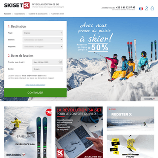 Location ski SKISET, location de ski et snowboard jusqu'à -50-
