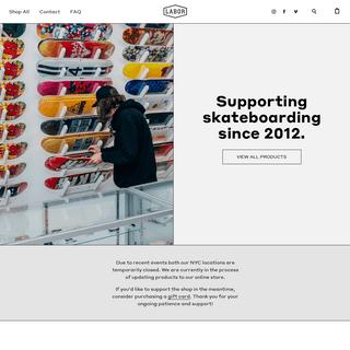 Labor Skateboard Shop