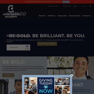 College Prep Boarding School For Boys - Army And Navy Academy