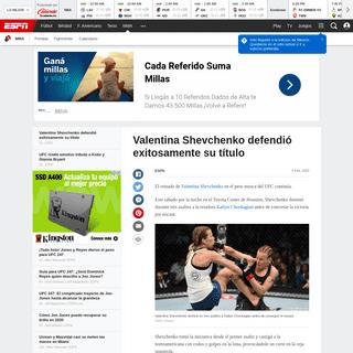 Valentina Shevchenko defendió exitosamente su título