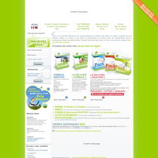 Création site internet gratuit - Creation-website.com - créer un website professionnel construire