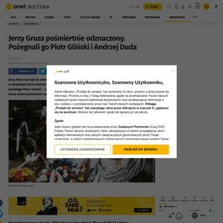 Pogrzeb Jerzego Gruzy. Piotr Gliński żegna reżysera w oficjalnym liście - Wiadomości