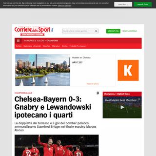 Chelsea-Bayern 0-3- Gnabry e Lewandowski ipotecano i quarti - Corriere dello Sport