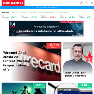 DER AKTIONÄR - Deutschlands großes Börsenmagazin