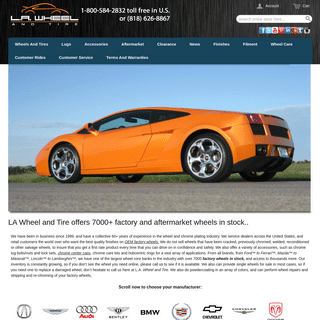 L.A. Wheel - Chrome OEM Wheel Experts - Home page