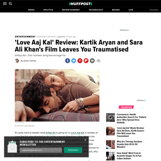 'Love Aaj Kal' Review- Kartik Aryan and Sara Ali Khan's Film Leaves You Traumatised - HuffPost India