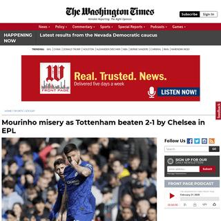 ArchiveBay.com - www.washingtontimes.com/news/2020/feb/22/giroud-alonso-score-as-chelsea-beats-tottenham-2-1/ - Mourinho misery as Tottenham beaten 2-1 by Chelsea in EPL - Washington Times