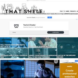 That Shelf - Film, Games, TV, Podcasts, Videos, Reviews, Interviews, Toronto