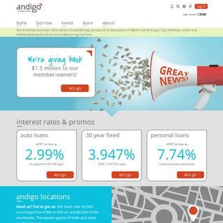 Andigo Credit Union - Better Rates, Lower Fees, More Fun