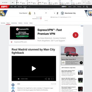 ArchiveBay.com - www.espn.com/soccer/report?gameId=560960 - Real Madrid vs. Manchester City - Football Match Report - February 26, 2020 - ESPN