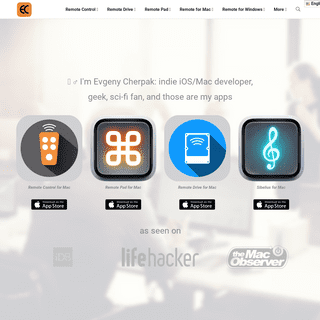 Apps by Evgeny Cherpak - Remote for Mac