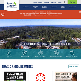 Sussex County Community College – Affordable High-Quality College Education - Newton, NJ