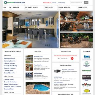 Concrete Information, Design Ideas, (+Contractors) - The Concrete Network