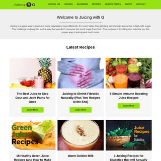 ArchiveBay.com - juicingwithg.com - Juicing with G - Juicing, Blending and Everything about Healthy Living
