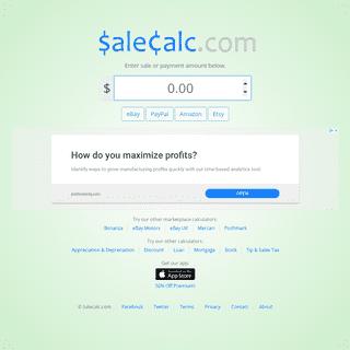 Calculate Fees & Profits - Salecalc.com