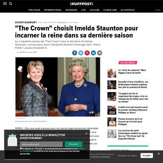 -The Crown- choisit Imelda Staunton pour incarner la reine dans sa dernière saison - Le Huffington Post