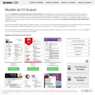 50 Modèles de CV Gratuit à Télécharger au Format Word