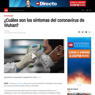¿Cuáles son los síntomas del coronavirus de Wuhan- - CNN