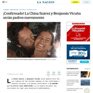 ¡Confirmado! La China Suárez y Benjamín Vicuña serán padres nuevamente - LA NACION