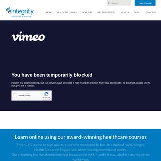 eIntegrity - Award-winning online healthcare courses - Home