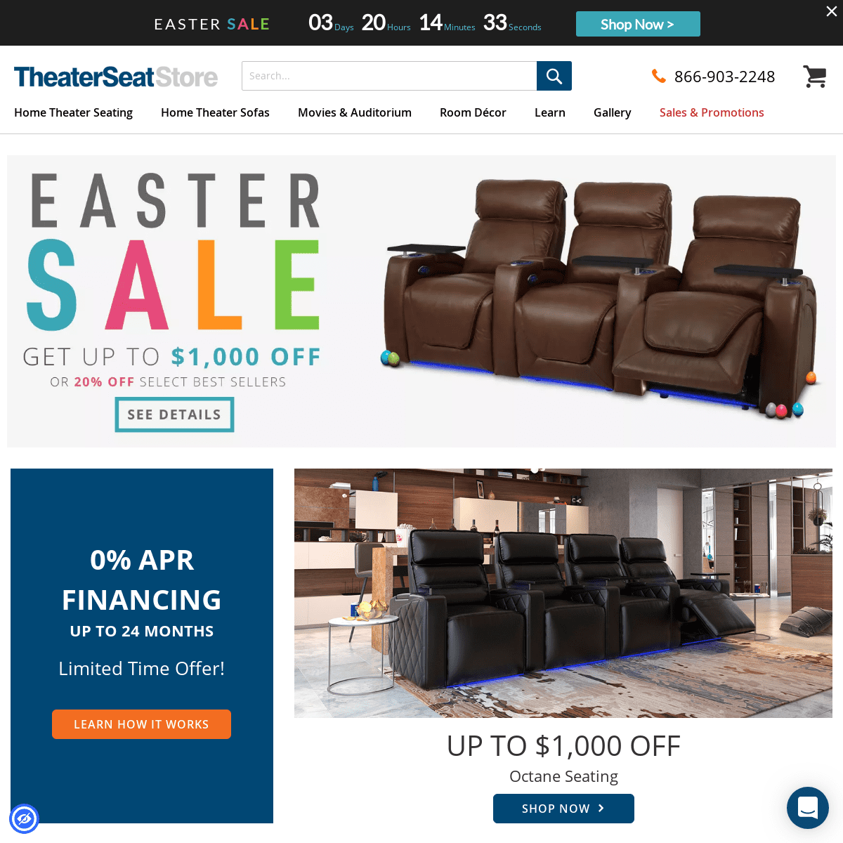 Home Theater Store - Theater Seating Store - Theater Seat Store