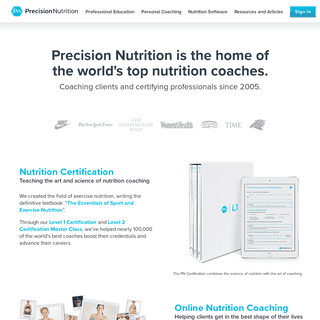 Precision Nutrition - Nutrition Certification, Coaching & Software