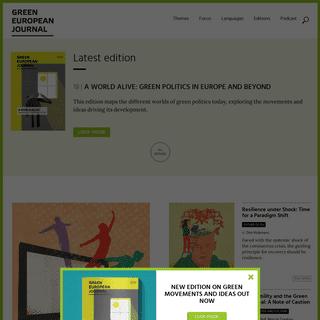 Green European Journal – The European Venue for Green Ideas