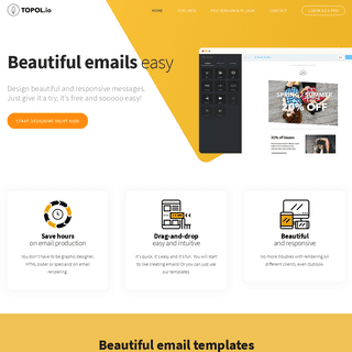 FREE & Beautiful html email template builder and editor - TOPOL.io