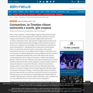 ArchiveBay.com - www.askanews.it/cronaca/2020/02/22/coronavirus-in-trentino-chiuse-universit%C3%A0-e-scuole-gite-sospese-pn_20200222_00220 - Coronavirus, in Trentino chiuse università e scuole, gite sospese