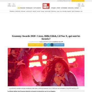 Grammy Awards 2020- Lizzo, Billie Eilish, Lil Nas X, qui sont les favoris- - Sud Ouest.fr