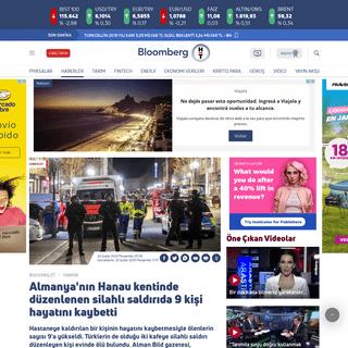 Almanya'nın Hanau kentinde düzenlenen silahlı saldırıda 9 kişi hayatını kaybetti - Bloomberg HT