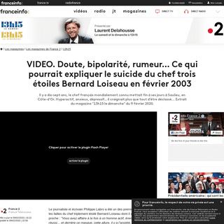VIDEO. Doute, bipolarité, rumeur... Ce qui pourrait expliquer le suicide du chef trois étoiles Bernard Loiseau en février 200