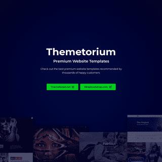 Best Website Templates - No.1 Choice from Themetorium.net