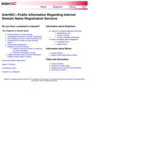 InterNIC - The Internet's Network Information Center