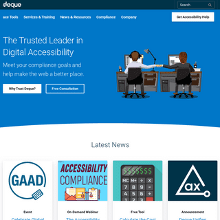 Deque Systems- Web Accessibility Software, Services & Training