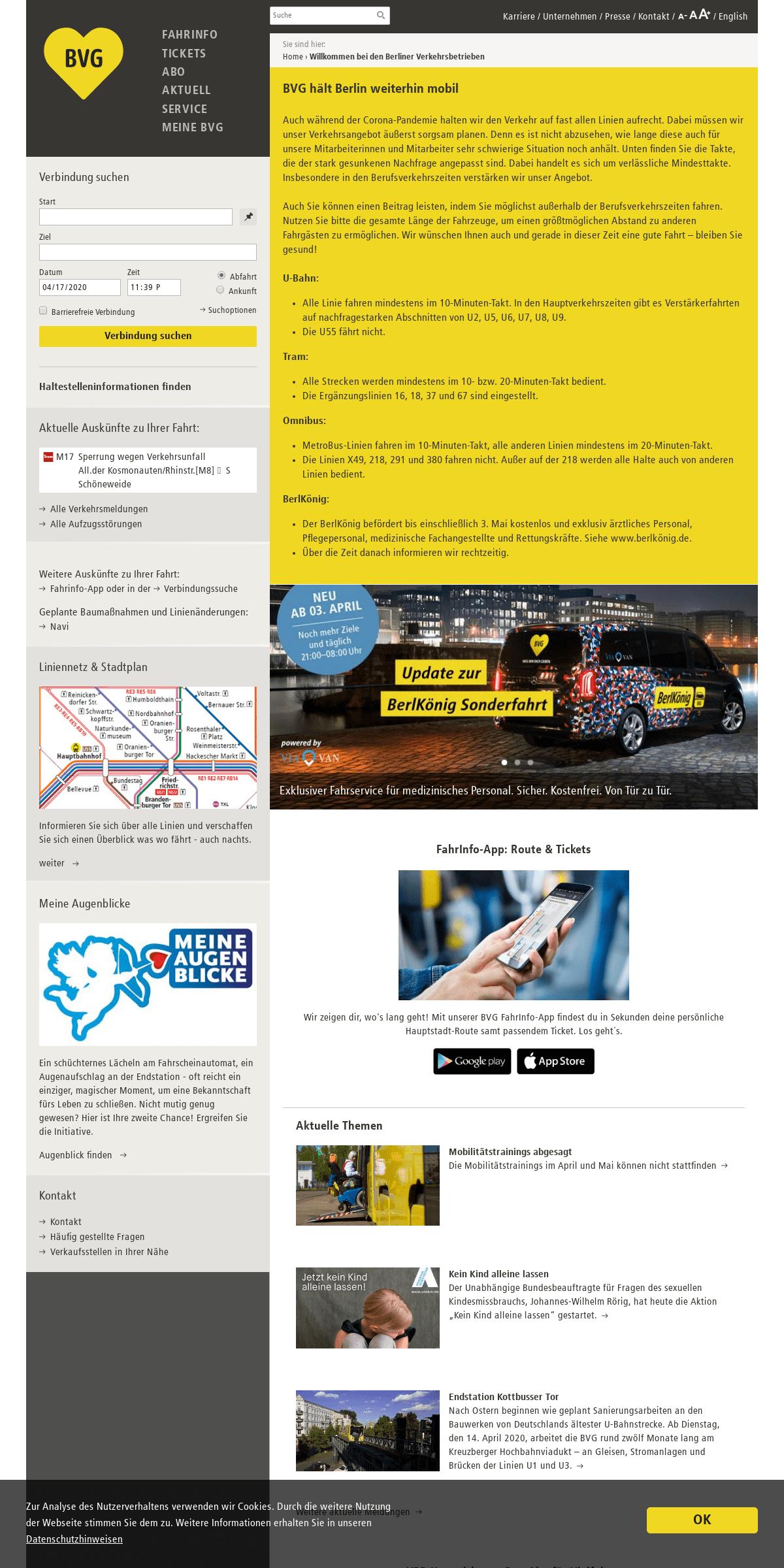 ArchiveBay.com - bvg.de - Willkommen bei den Berliner Verkehrsbetrieben - BVG