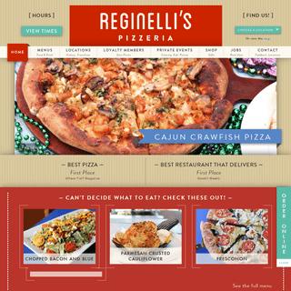 Reginelli's Pizzeria - Your Favorite New Orleans Pizzeria!