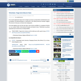 ArchiveBay.com - www.footmercato.net/flash-mercato/tottenham-hugo-lloris-blesse-a-l-aine_275133 - Tottenham- Hugo Lloris blessé à l'aine
