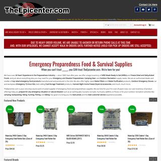 TheEpicenter.com Emergency Preparedness Food & Survival Supplies